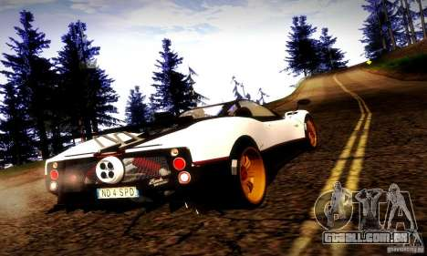 Pagani Zonda Tricolore V2 para GTA San Andreas esquerda vista