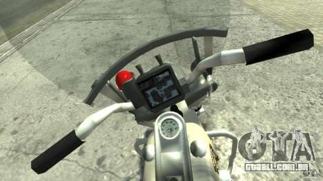 Police Bike para GTA 4 vista direita