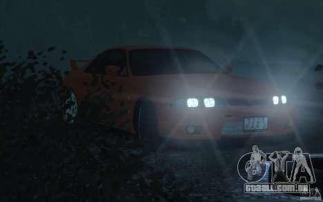 Nissan Skyline para GTA 4 vista de volta
