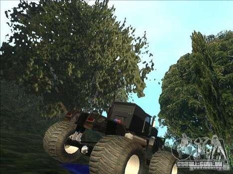 Monsterous Truck para GTA San Andreas vista direita