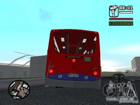 Busscar Urbanuss Pluss VW 17-230 EOD Alongado para GTA San Andreas vista direita