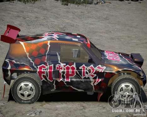 Mitsubishi Pajero Proto Dakar vinil 3 para GTA 4 traseira esquerda vista