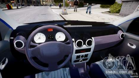 Dacia Logan 2008 [Tuned] para GTA 4 vista de volta
