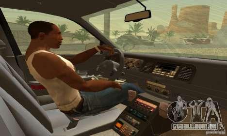 Ford Crown Victoria Oklahoma Police para GTA San Andreas traseira esquerda vista