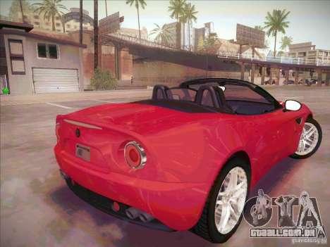 Alfa Romeo 8C Spider para GTA San Andreas traseira esquerda vista