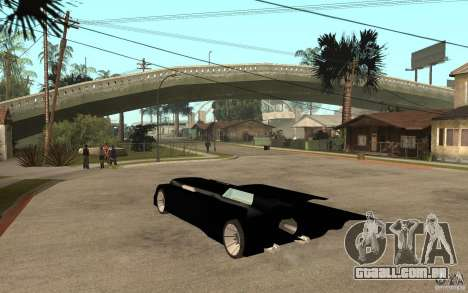 Batmobile Tas v 1.5 para GTA San Andreas traseira esquerda vista