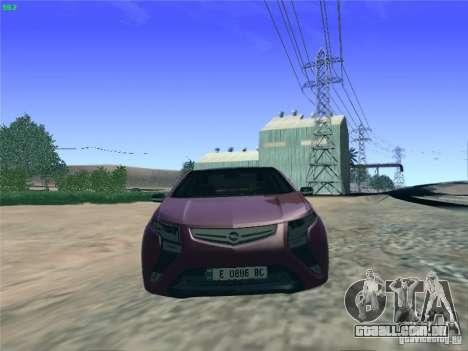 Opel Ampera 2012 para GTA San Andreas vista direita