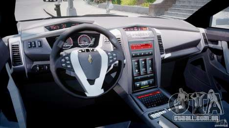 Carbon Motors E7 Concept Interceptor Sherif ELS para GTA 4 vista direita