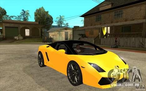 Lamborghini Gallardo LP560 Bicolore para GTA San Andreas vista traseira