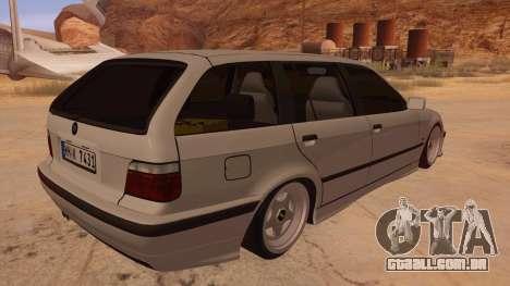 BMW M3 E36 Touring para GTA San Andreas vista direita