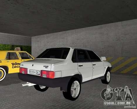Vaz 21099 luz ajustado para GTA Vice City vista traseira esquerda