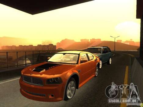 Dodge Charger From NFS CARBON para GTA San Andreas esquerda vista