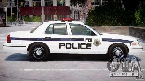 Ford Crown Victoria 2003 FBI Police V2.0 [ELS] para GTA 4 interior