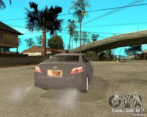 Toyota Camry XV40 2007 para GTA San Andreas traseira esquerda vista