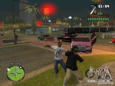 T-shirt do Adidas Crazy Dog para GTA San Andreas terceira tela