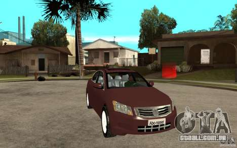 Honda Accord 2009 para GTA San Andreas vista traseira