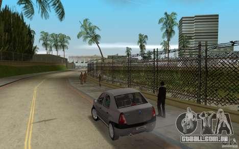 Dacia Logan 1.6 MPI para GTA Vice City vista traseira esquerda