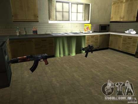 Pak versão doméstica de armas 2 para GTA San Andreas
