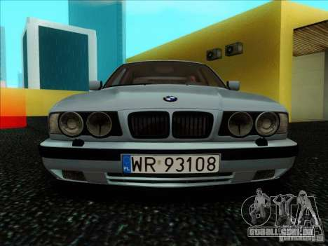 BMW 5 series E34 para GTA San Andreas vista interior