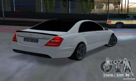 Mercedes-Benz S65 AMG Edition para GTA San Andreas esquerda vista