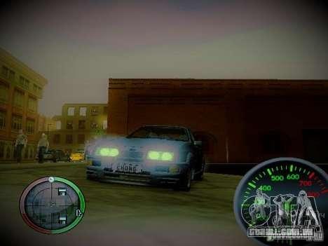Velocímetro por Centrale v2 para GTA San Andreas segunda tela