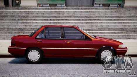 Mercury Tracer 1993 v1.0 para GTA 4 vista lateral