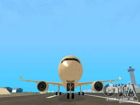 Airbus A350-900 Singapore Airlines para vista lateral GTA San Andreas