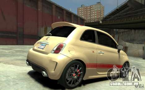 Fiat 500 Abarth Esseesse V1.0 para GTA 4 vista direita