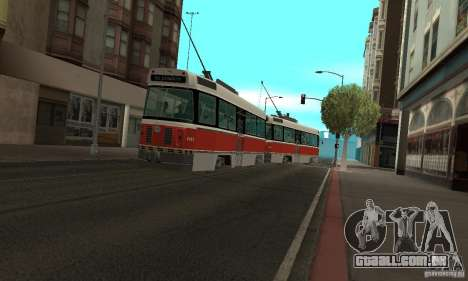 Canadian Light Rail para GTA San Andreas esquerda vista