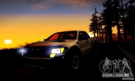 Ford F-150 SVT Raptor V1.0 para GTA San Andreas vista interior