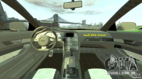 Audi RS6 Avant 2010 Stock para GTA 4 rodas