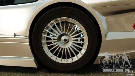 Mercedes-Benz CLK GTR AMG para GTA 4 vista de volta