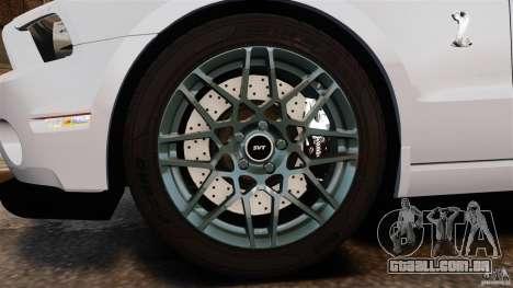 Ford Shelby GT500 2013 para GTA 4 vista interior