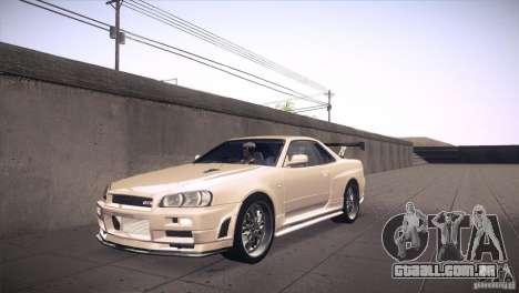 Nissan Skyline R34 para GTA San Andreas vista inferior