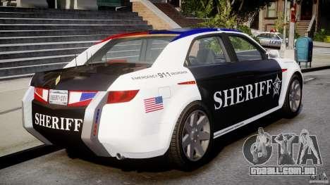 Carbon Motors E7 Concept Interceptor Sherif ELS para GTA 4 traseira esquerda vista