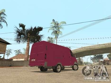 Gazela 2705 para GTA San Andreas vista inferior