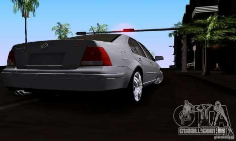 Volkswagen Bora 1.8T para GTA San Andreas traseira esquerda vista