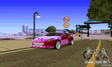 Nissan 370Z para vista lateral GTA San Andreas