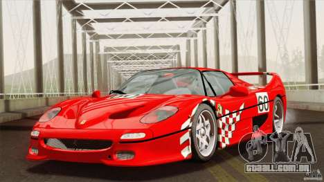Ferrari F50 v1.0.0 Road Version para vista lateral GTA San Andreas