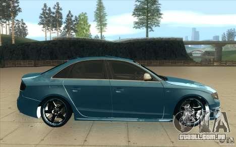 Audi S4 2009 para GTA San Andreas vista interior