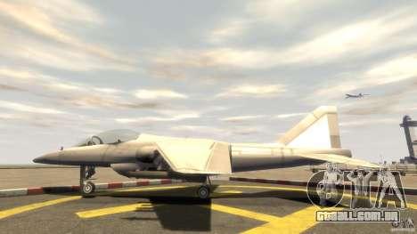 Liberty City força aérea Jet (com engrenagem) para GTA 4 esquerda vista