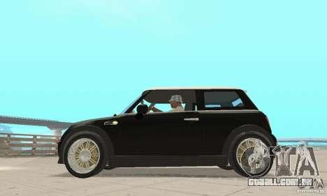 Mini Cooper Hardtop para GTA San Andreas traseira esquerda vista