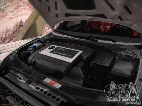 Audi RS3 2011 para GTA San Andreas vista interior