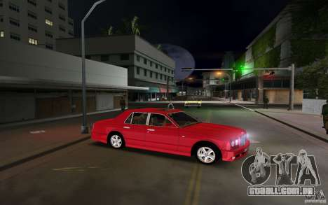 Bentley Arnage T 2005 para GTA Vice City vista traseira esquerda