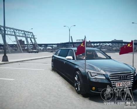 Audi A8 Limo para GTA 4 vista superior