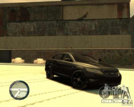Ford Taurus Police Interceptor Stealth para GTA 4 esquerda vista