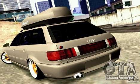 Audi RS2 Avant Thug para GTA San Andreas traseira esquerda vista