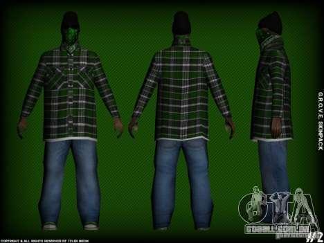 G.R.O.V.E. Skinpack para GTA San Andreas quinto tela