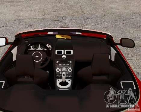 Aston Martin DBS Volante 2010 v1.5 Bonus Version para GTA 4 vista de volta