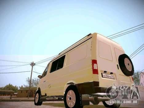 GAZ 2217 negócios para GTA San Andreas vista direita